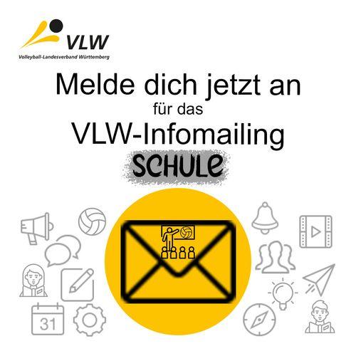 VLW-Infomailing SCHULE - Jetzt anmelden und up-to-date bleiben